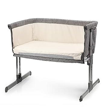 Miclassic Bedside Crib Travel Bassinet Easy Folding Adjustable