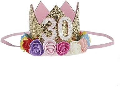 Headband 30th Birthday decorations 30th Birthday Headband Birthday Headbands 30th Birthday Party Hat