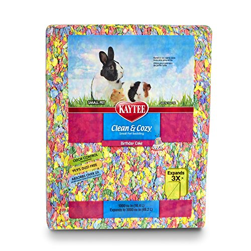 - Kaytee Clean & Cozy Birthday Cake Bedding, 1000 Cubic Inch