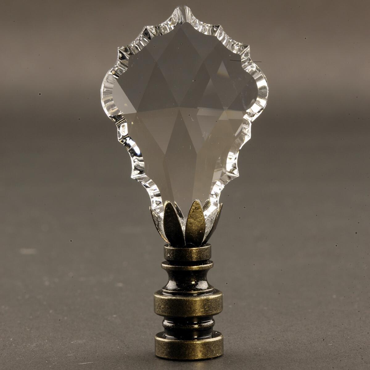 Swarovski Crystal Gothic Cross Antique Base Finial 2.75'' h