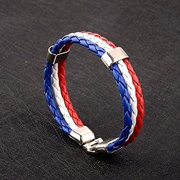 HanSmart Coupe du Monde 2018/Bracelet tress/é Drapeau national Flagge/ /Couleur bracelet Femmes Hommes Couple einheitsgr/ö/ße