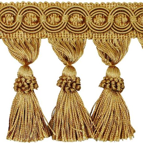 Expo International 10-Yard Kylie Classic Tassel Fringe Trim, Gold