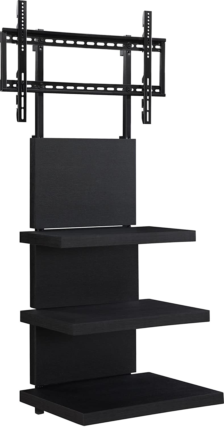 amazoncom altra furniture hollow core altramount tv stand with mount for tvs up to 60inch black espresso kitchen u0026 dining