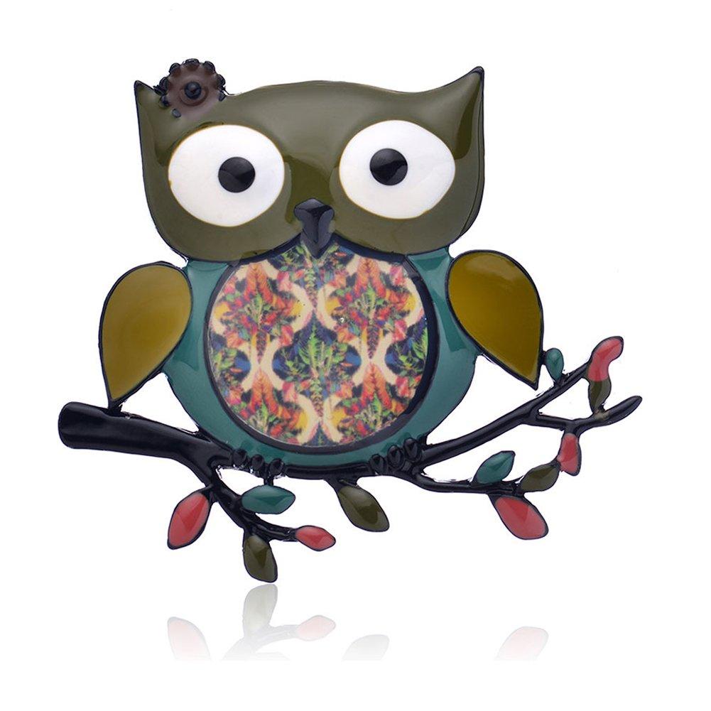 Ruilong vintage Animal en /émail Broche Sac cadeau de mariage Big Belly Parrot Broche Hibou Bijoux tendance pins A NOURRICE Pince de f/ête Sac cadeau