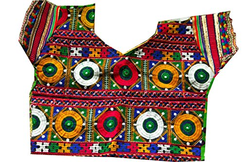 Samudrika Designer Garba Lehenga Chaniya Choli Cotton Green And Red Size 4 Years