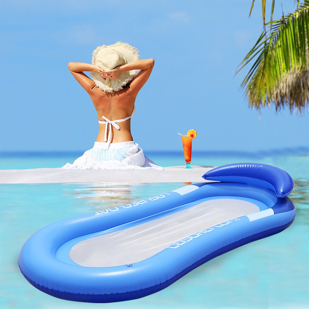 iBellete Colchoneta Piscina Hinchable Inflables para Playa Flotadores Flotador Piscina Playa Tumbona Piscina para Adultos y Niños Flotante Silla Cama ...