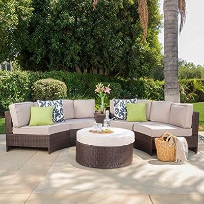 Double-tap to zoom - Riviera Portofino Outdoor Patio Furniture Wicker 6 Piece