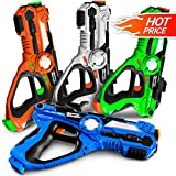 Laser Tag Guns - Set of 4 Laser Guns - Best Toys for Boys Teens 7-14 Years Old - Novelty Fun Gifts for Boys - Indoor Outdoor Laser Gun Kit with Carrying Case - Absolutely Safe Game for Kids