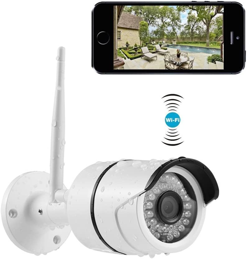 Cámaras de Vigilancia Exterior, 720P Cámara IP WiFi de Exterior ...