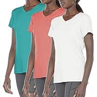 icyzone Camiseta de Fitness Deportiva de Cuello en