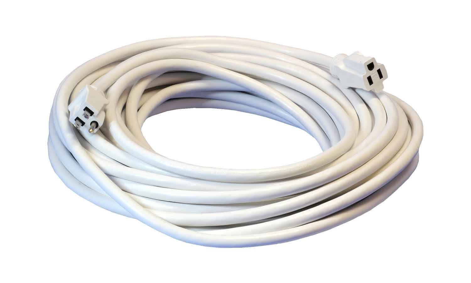 50-Foot 12/3 Heavy Duty Outdoor White Extension Cord - Your Name on ...