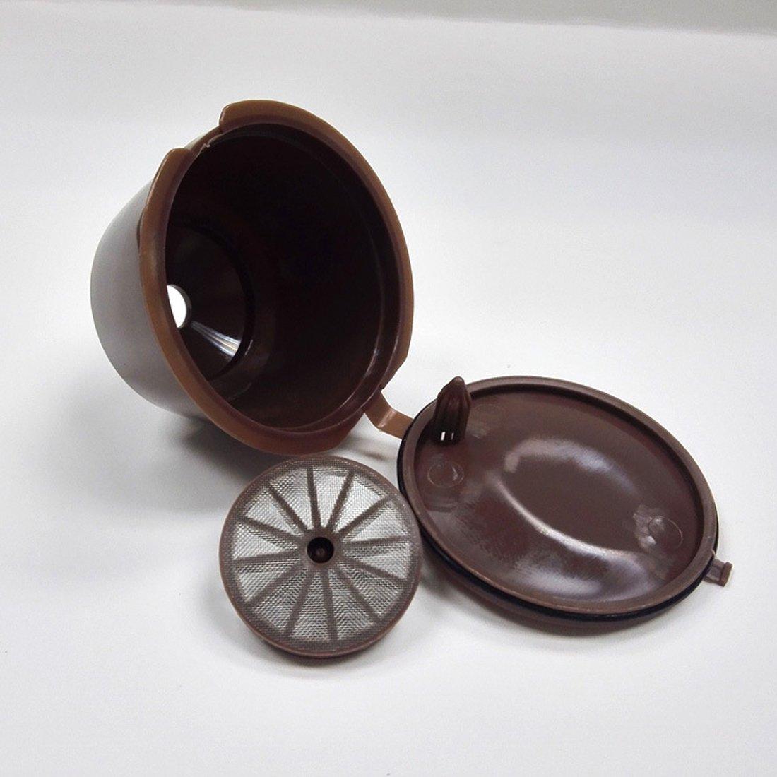 Fligatto Cápsulas recargables con filtro para cafetera Dolce Gusto ...