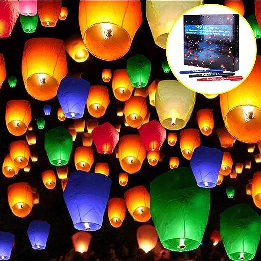 Auguri Di Buon Natale In Cinese.20 Pcs Lanterne Volanti Doris Direct 7 Colori Lanterne Volante