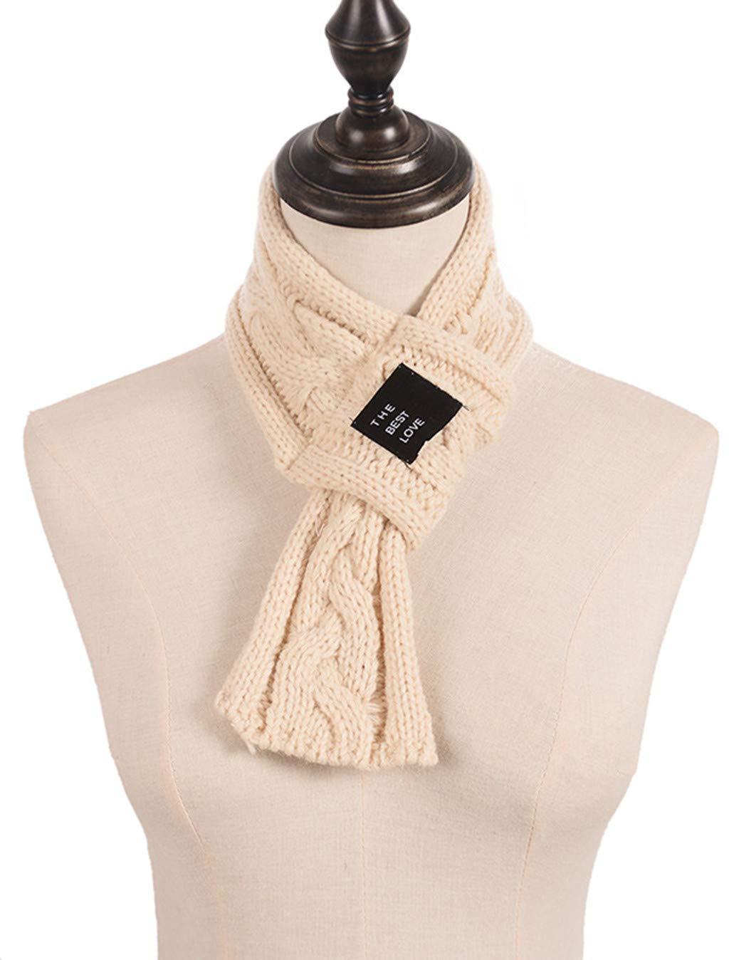 Clearance Kumike Fashion Women Lady Warm Fashion Knit Cross Solid Crochet Scarf Neckerchief