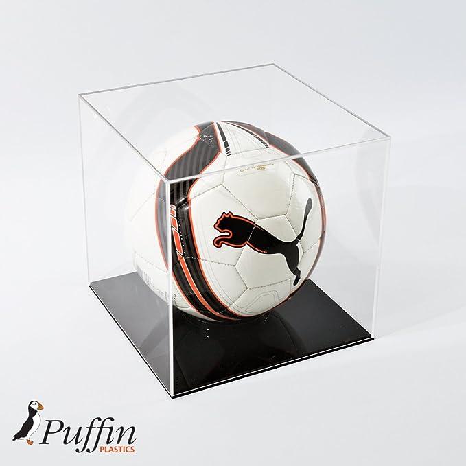 Expositor de balón de fútbol, base color negro: Amazon.es ...