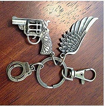 Llavero cristiano, llavero de pistola, llavero de ala de ...
