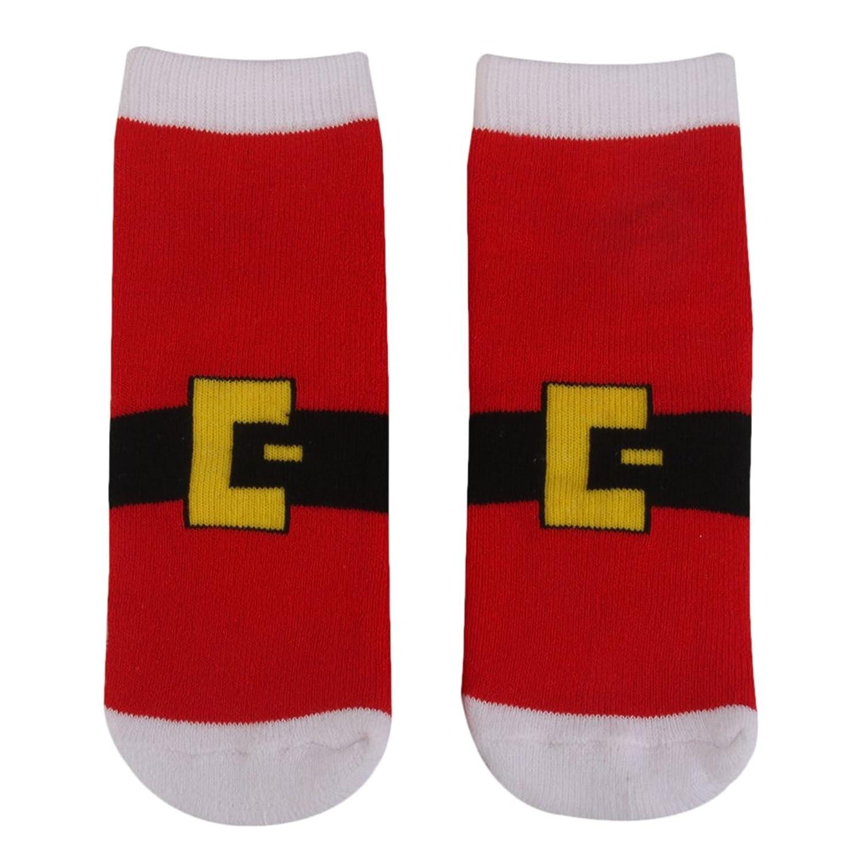 MagiDeal 3 Pairs Kids Toddler Christmas Slipper Socks Xmas Stocking