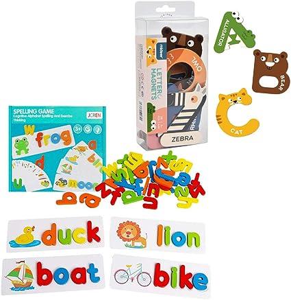JCREN Magnetic Letters Animals Alphabet Toys for Kids ...