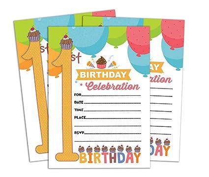 Amazon Com Darling Souvenir Multicolor Birthday Invitation