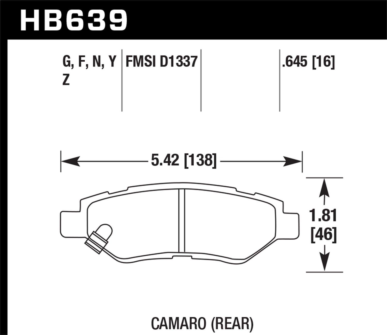 Hawk Performance HB639Z.645 Performance Ceramic Brake Pad