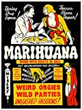 Marihuana (1939) Vintage Movie Drug Propaganda Poster Print 18'' x 24''