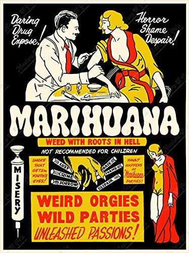 Marihuana (1939) Vintage Movie Drug Propaganda Poster Print 18