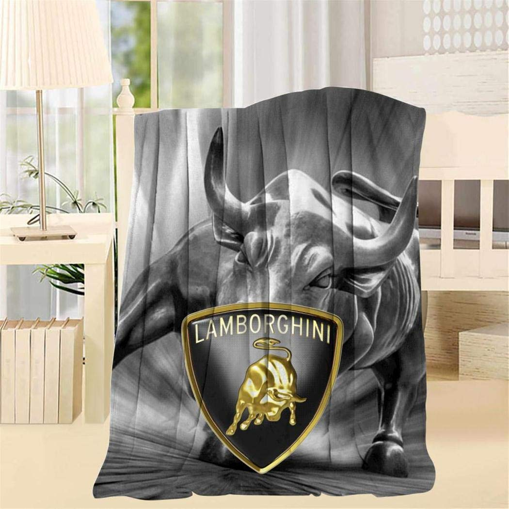 Caoamz Lambor-ghini Car Logo 3D Blanket Creative Design Blankets Throw for Car,Living Room,Sofa or Bedroom