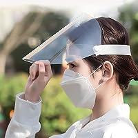 TERAISE Protectores faciales Anti-Saliva para Hombres y Mujeres Tamaño Transparente Protector Ajustable A Prueba de Polvo antivaho