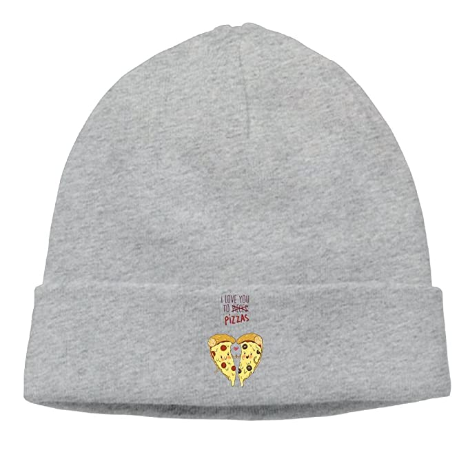 517ea68d32d74 New I Love You to Pizza Unisex Skull Cap Beanie Hat Will Your Head ...
