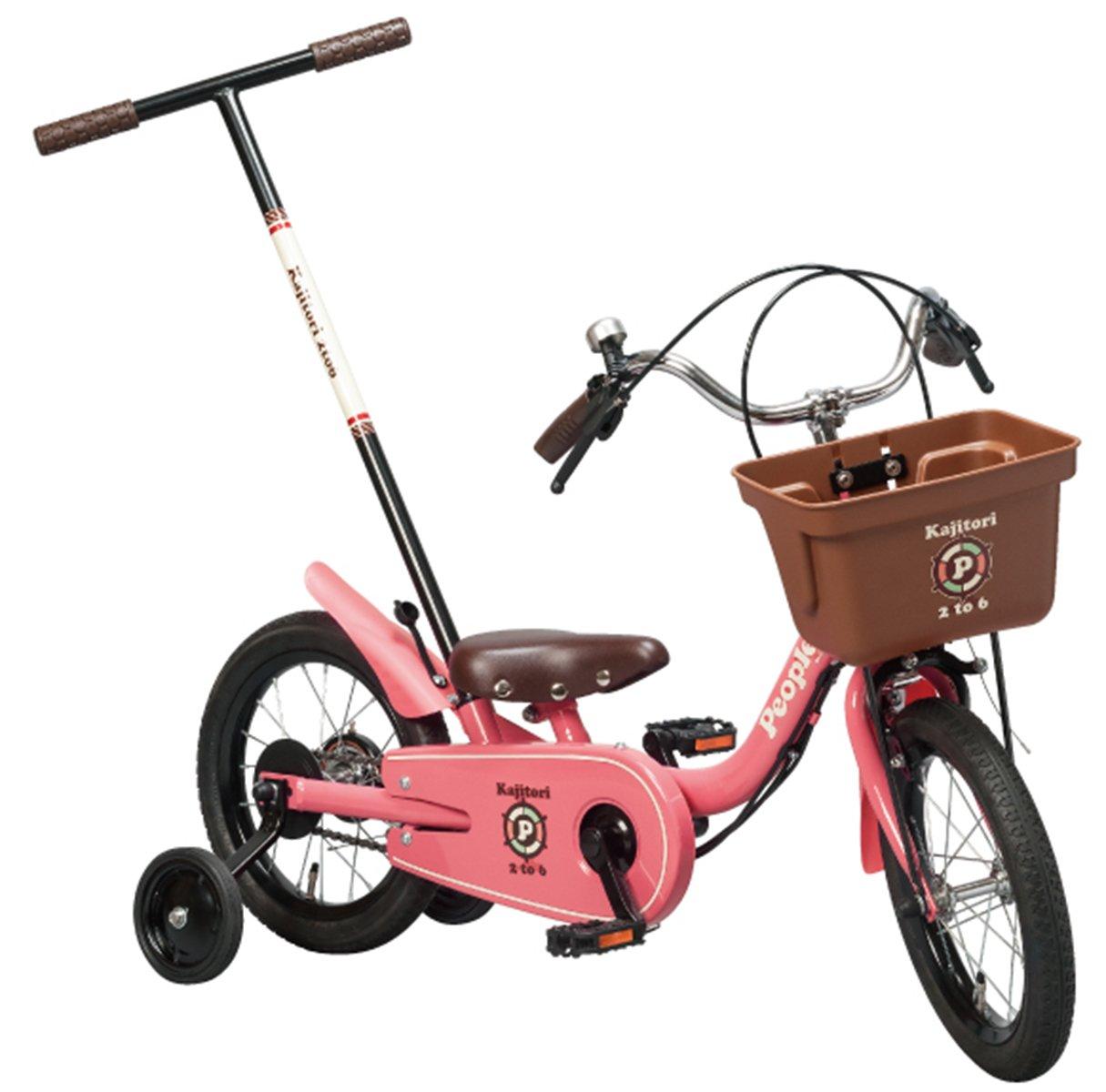 People(ピープル) いきなり自転車 かじとり式 14インチ B0711R66WTピュアローズ