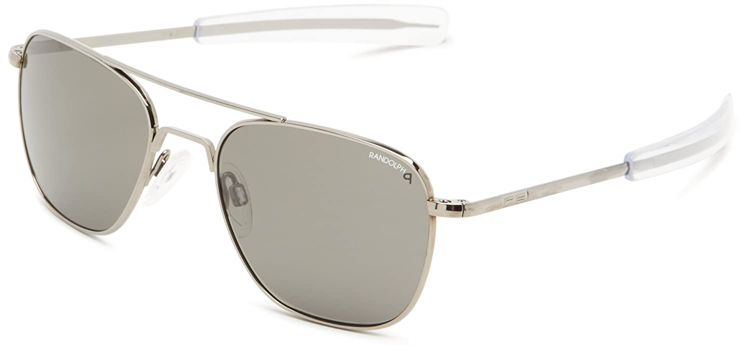 b37826893cb42 Randolph Engineering Aviator Bayonet 55mm Gun Metal Gray Polarized  Sunglasses  Amazon.co.uk  Clothing