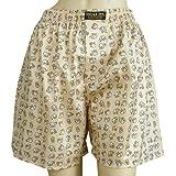 Unisex's Thai Silk Boxer Shorts- with Small Elephants Design Size 30-33''