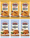 LA Fish Fry Products Chicken Fry Batter & Fruit Cobbler Mix Duo (Pack of 6)