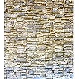 "EZPaper grey brick contact paper peel and stick wallpaper gray self adhesive vinyl film 15.9"" x 118 """