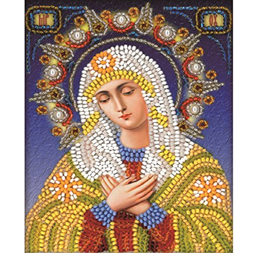 Weiliru 5D Embroidery Paintings Rhinestone Pasted DIY Diamond Painting Cross Stitch Religious Mother and Child ()