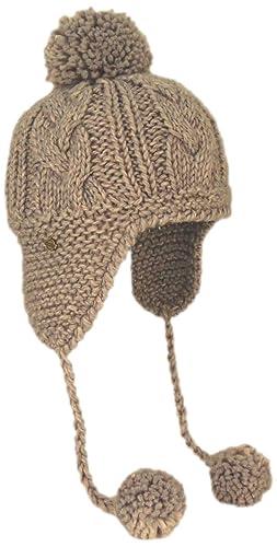 Seeberger – Gorro de punto – para mujer Beige Beige (cashmere 96) Talla única