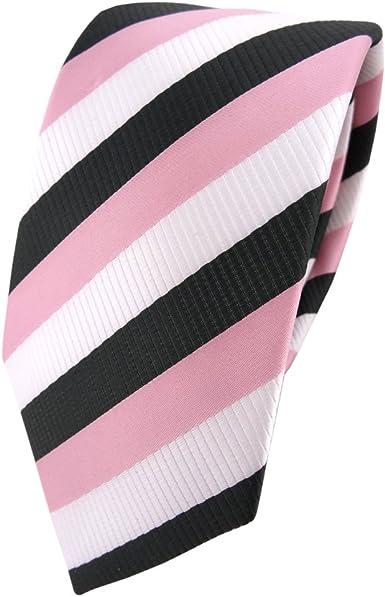 TigerTie - corbata estrecha - rosa viejo-rosa blanco antracita - Tie ...