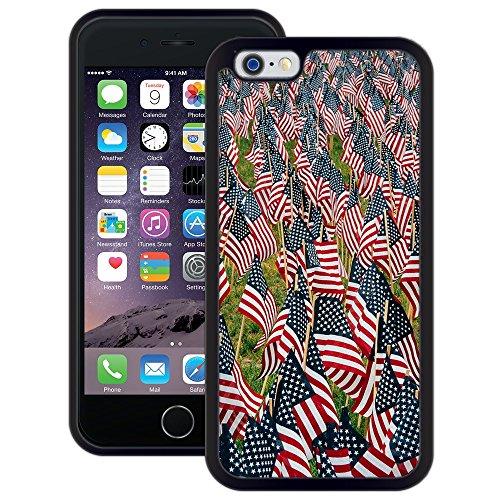 amerikanische Flaggen | Handgefertigt | iPhone 6 6s (4,7') | Schwarze Hülle