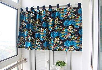 Ustide, Tenda Decorativa da Cucina, per Sala da Pranzo, mensola e  mantovana, Cotone, Fan, 55\