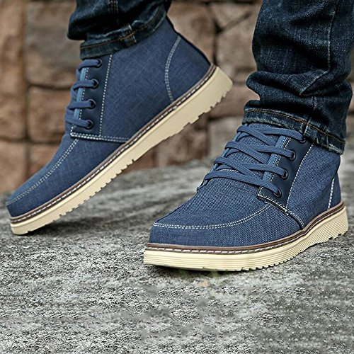 Men's Shoes Feifei Spring and Autumn Leisure High Help Cloth Shoes 4 Colors (Color : 02, Size : EU/41/UK7.5-8/CN42)