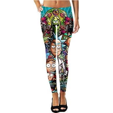 ae624642f592e Rick and Morty Leggings Thin Elasticity Women's 3D Print Plus Size ...