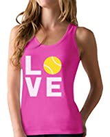 TeeStars - Love Tennis - Gift Idea for Tennis Fans Cool Racerback Tank Top