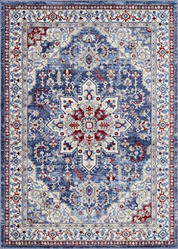 Luxe Weavers Victoria Collection Blue Oriental 8x10 Area Rug 7525