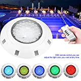 LED Underwater Light, Waterproof IP68 Submersible Pond Lights with 300-LED Bulbs, 30W Multi-Color RGB Light with Remote Control for Swimming Pool Aquarium Garden Pond Pool Tank Fountain Waterfall (Se