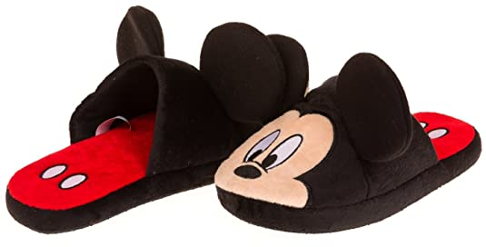 Disney Women's Mickey 3D Black Slipper - Medium
