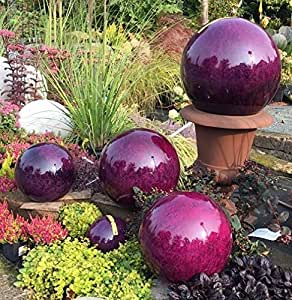 Bola de acero inoxidable 40cm Bola decorativa mármol púrpura decoración bola bola de acero inoxidable