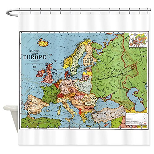 CafePress - Map Of Europe - Decorative Fabric Shower - Target Map Locations
