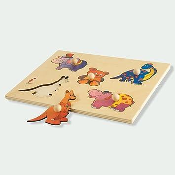 Capra 3d LEGNO KIT mammiferi allevamento animale selvatico Legno Puzzle Pupazzetto Animale in legno