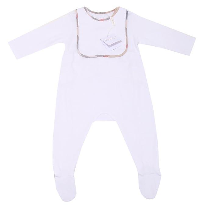 5219O kit tutina bavaglino BURBERRY unisex set baby romper bib kids [12 MONTHS]