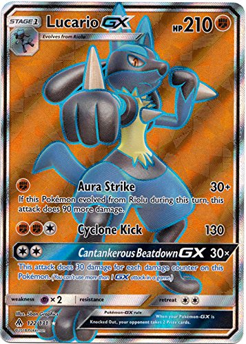 Amazon.com: Lucario GX - 122/131 - Full Art Ultra Rare ...
